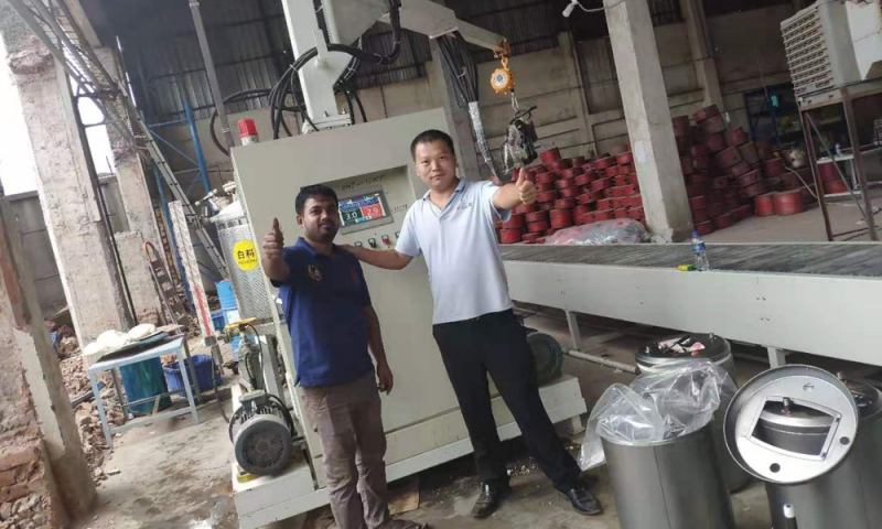 Bangladesh water heater foaming machine