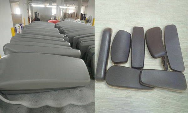 Small handrail self-skinning soft foam pu polyurethane high pressure foaming machine