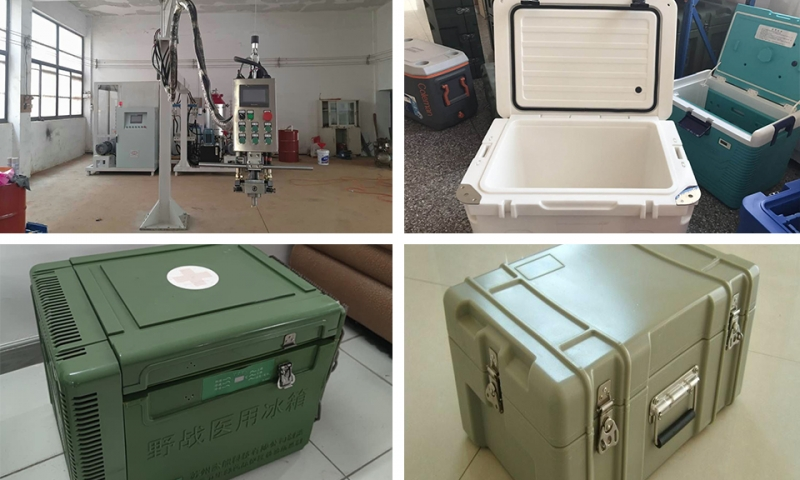 Polyurethane foaming equipment for Zhongshan military mini refrigerator