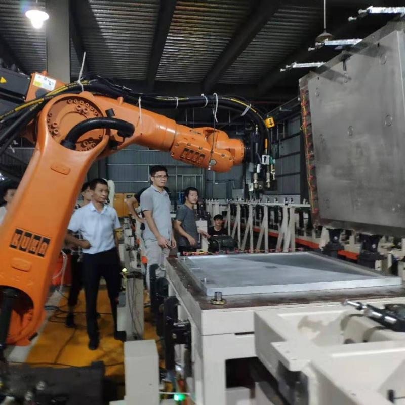 Fret robot floor heating foaming