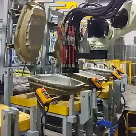 Automatic infusion of soft foam cushion for Kawasaki robot