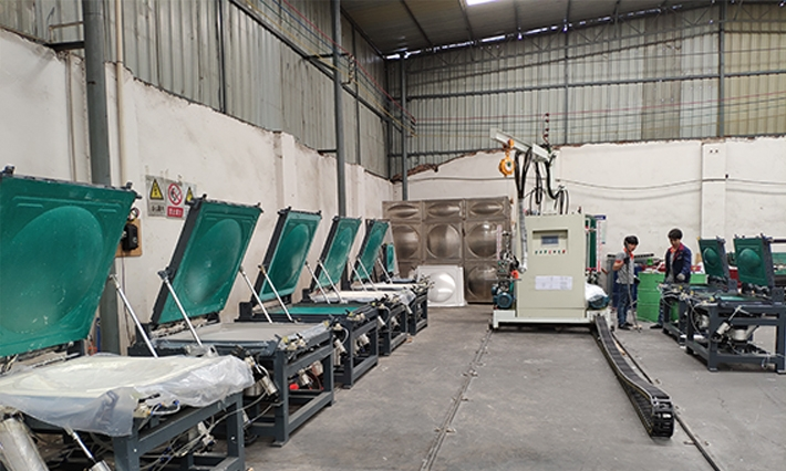 Automatic foam mold die frame solution
