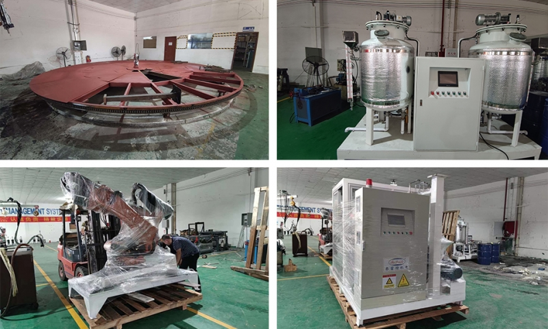 Automatic production line of polyurethane foaming machine for foot mats in Vietnam