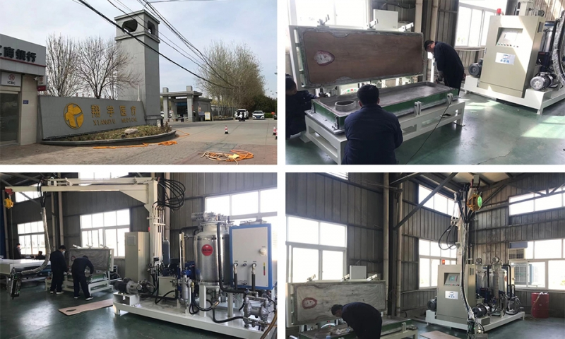 Hebei medical bed polyurethane foaming production equipment