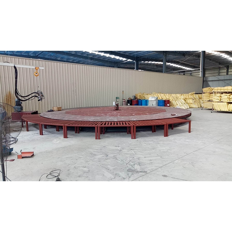 Seat turntable assembly line